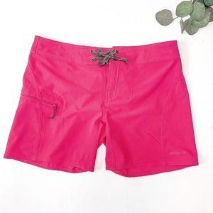 Patagonia Board Shorts Cargo Pocket Hot Pink Sz 6